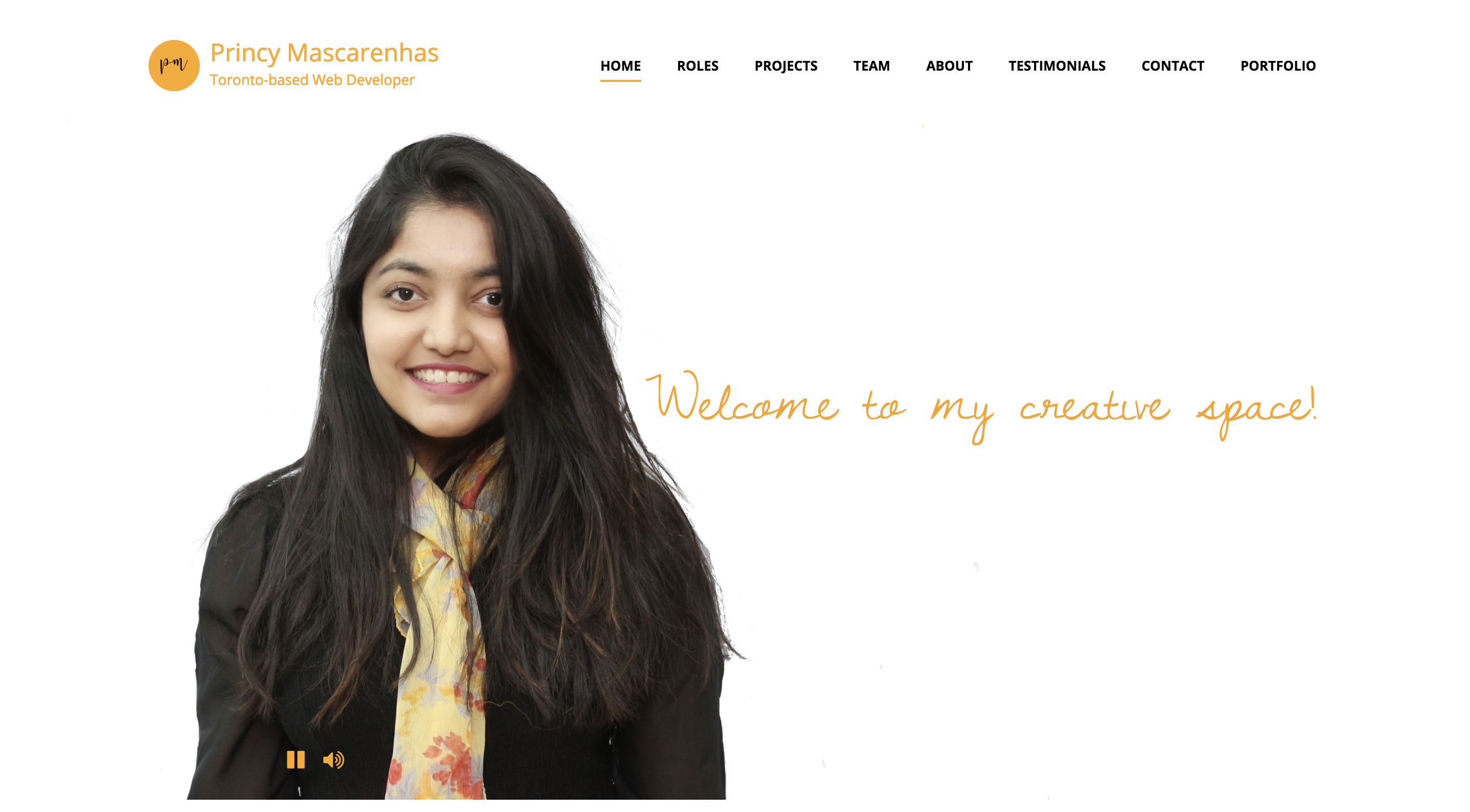 Project Seven Princy Mascarenhas Portfolio Site